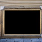 We have a very large  wooden gilt frame only  with minor but repairable damage. This frame would be ideal for a large canvas or portrait. Dimensions:  230cm wide 167cm high £400