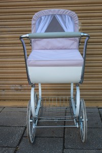 Inglesina coach built pram, pre-owned  but in lovely condition. Hood and apron are both washable with  removable  and washable inner liner and mattress cover. Also comes with  matching pram bag £280