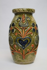 West German vase, collectable and in lovely condition. £30. We can post for a small fee