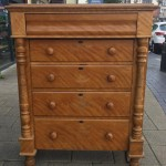 "L.N.E.R Victorian chest of draws. This is a rear and original piece with the back stamp  ""L.N.E.R gate house Bullwell Forest Nottingham"" £300"